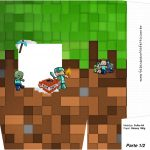 Sacolinha Surpresa 1 2 Minecraft Kit Festa