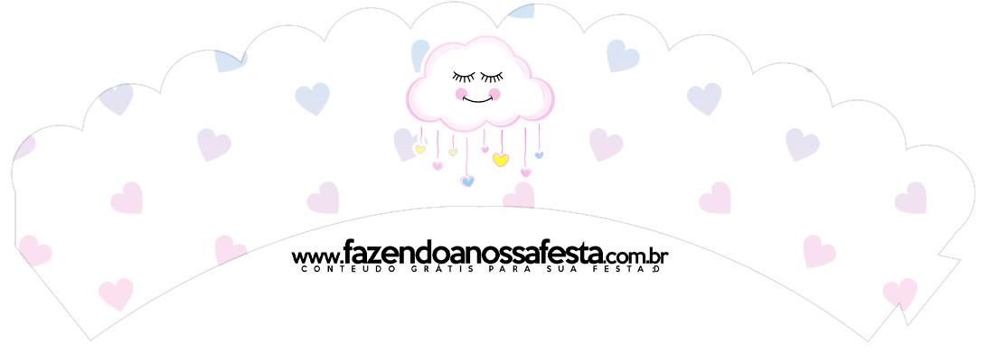 Saias Wrappers para Cupcakes 2 Chuva de Amor Kit Festa