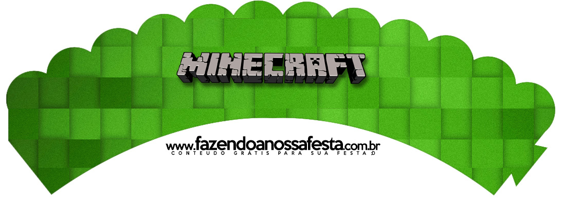 Saias Wrappers para Cupcakes 2 Minecraft Kit Festa