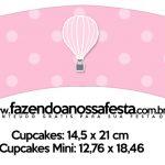Saias Wrappers para Cupcakes Balão de Ar Quente Rosa