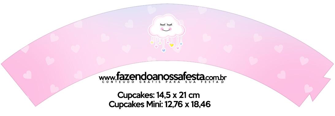 Saias Wrappers para Cupcakes Chuva de Amor Kit Festa
