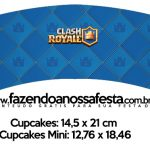 Saias Wrappers para Cupcakes Clash Royale