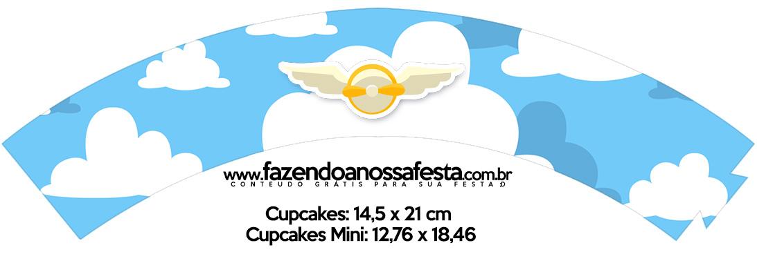 Saias Wrappers para Cupcakes Menino Aviador