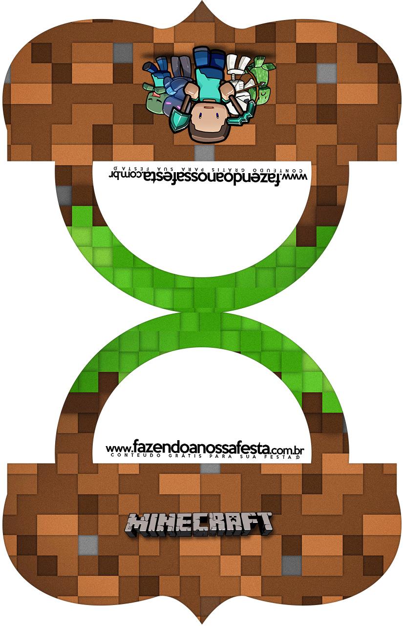 Saquinho de balas Bolsinha Minecraft Kit Festa