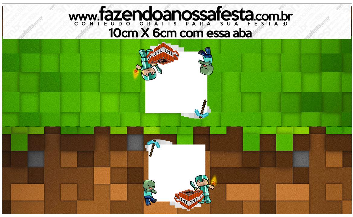 Saquinho de balas Minecraft Kit Festa