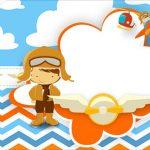 Tag Agradecimento Etiqueta Menino Aviador Kit Festa