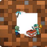 Tag Agradecimento Etiqueta Minecraft Kit Festa