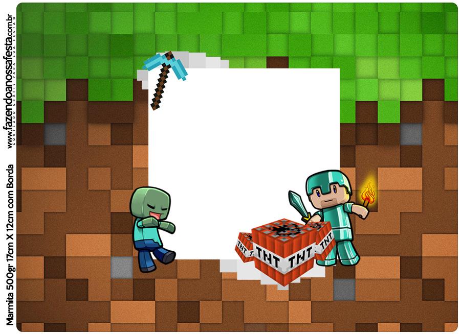 Tampa Marmitinha 500g Minecraft