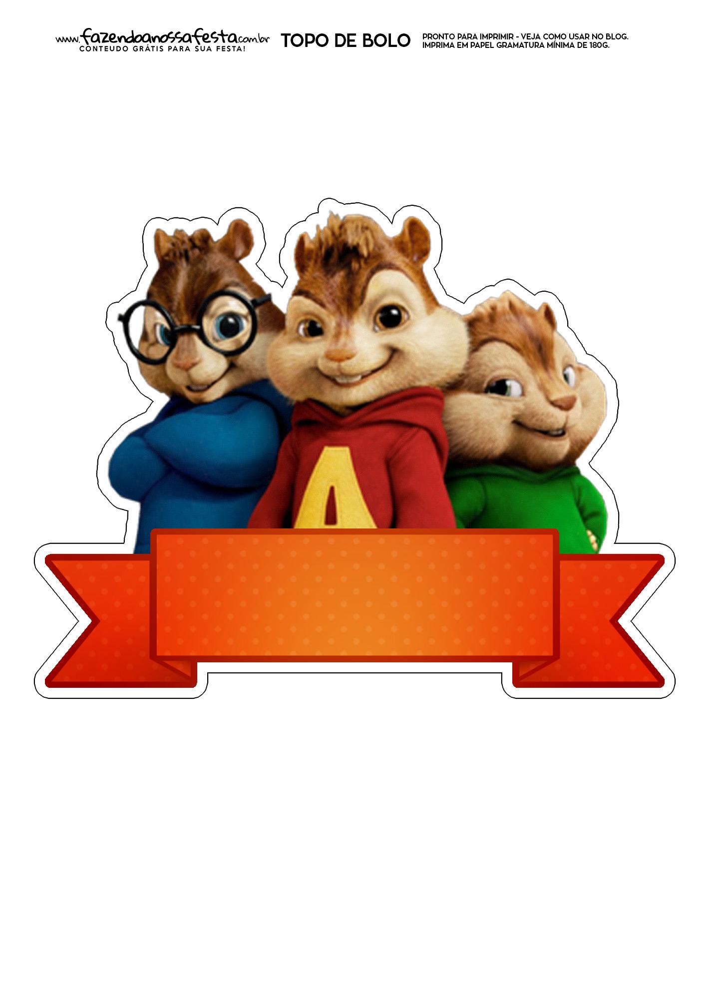 Topo de Bolo Alvin e os Esquilos 1