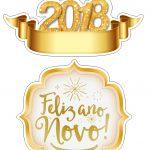 Topo de Bolo Ano Novo 2018
