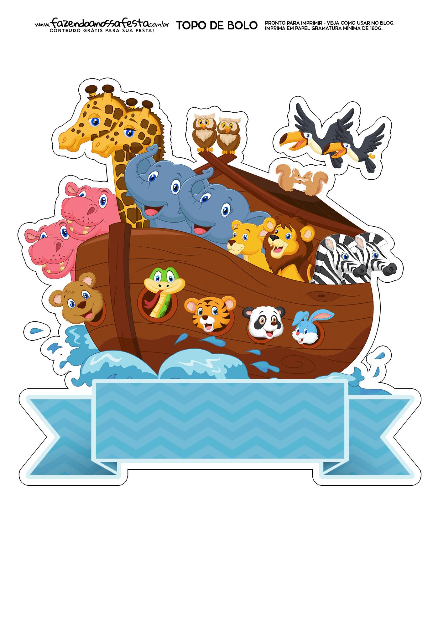 Topo de Bolo Arca de Noe