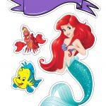 Topo de Bolo Ariel Pequena Sereia
