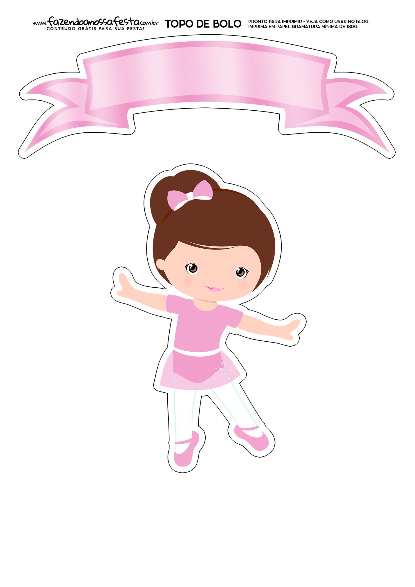 Topo de Bolo Bailarina 1