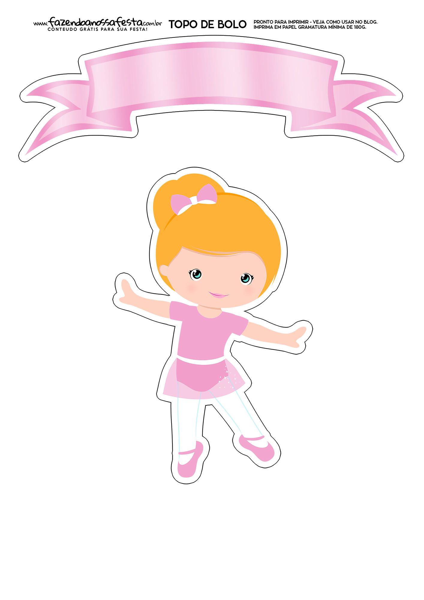 Topo de Bolo Bailarina 2