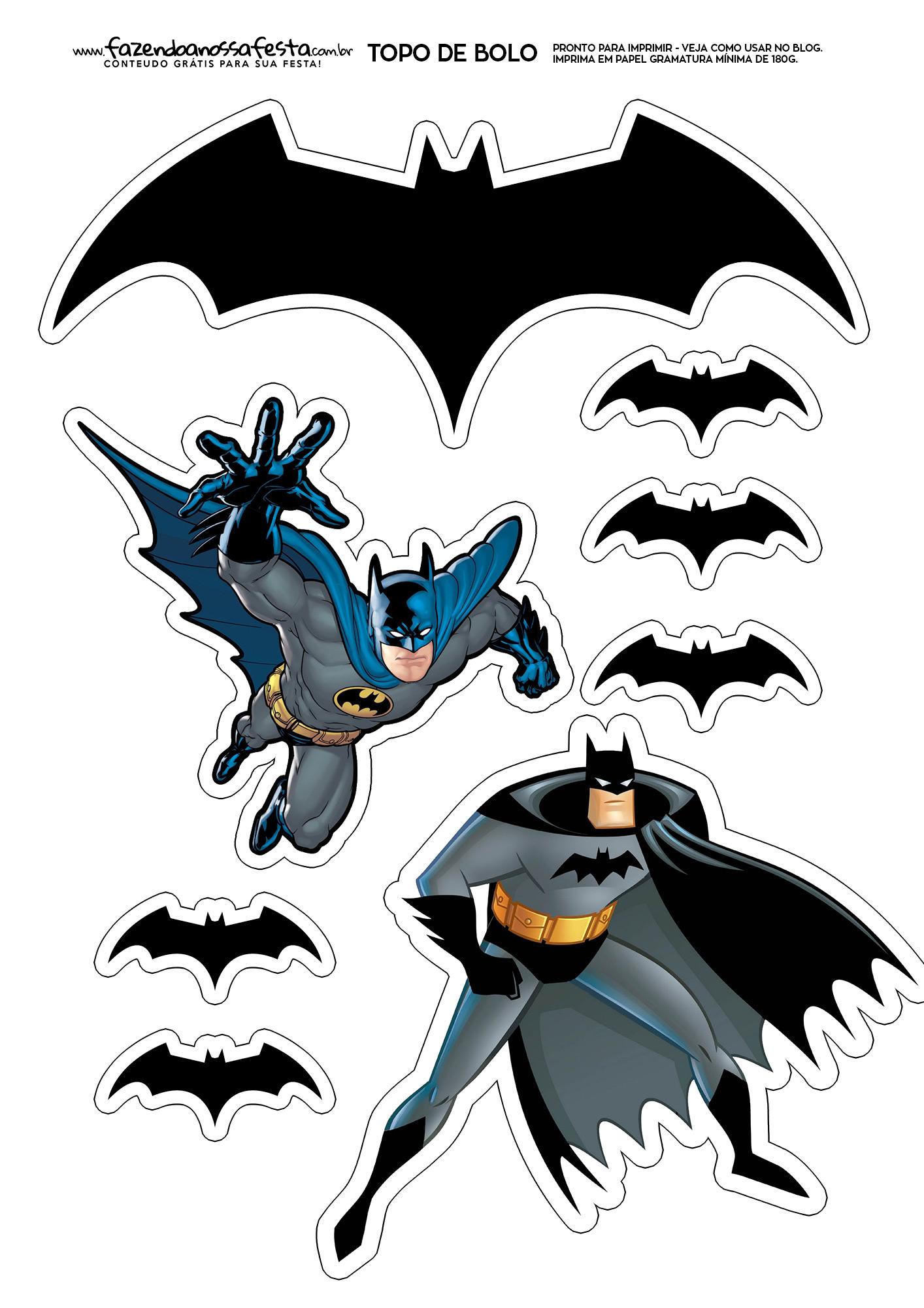 Topo de Bolo Batman