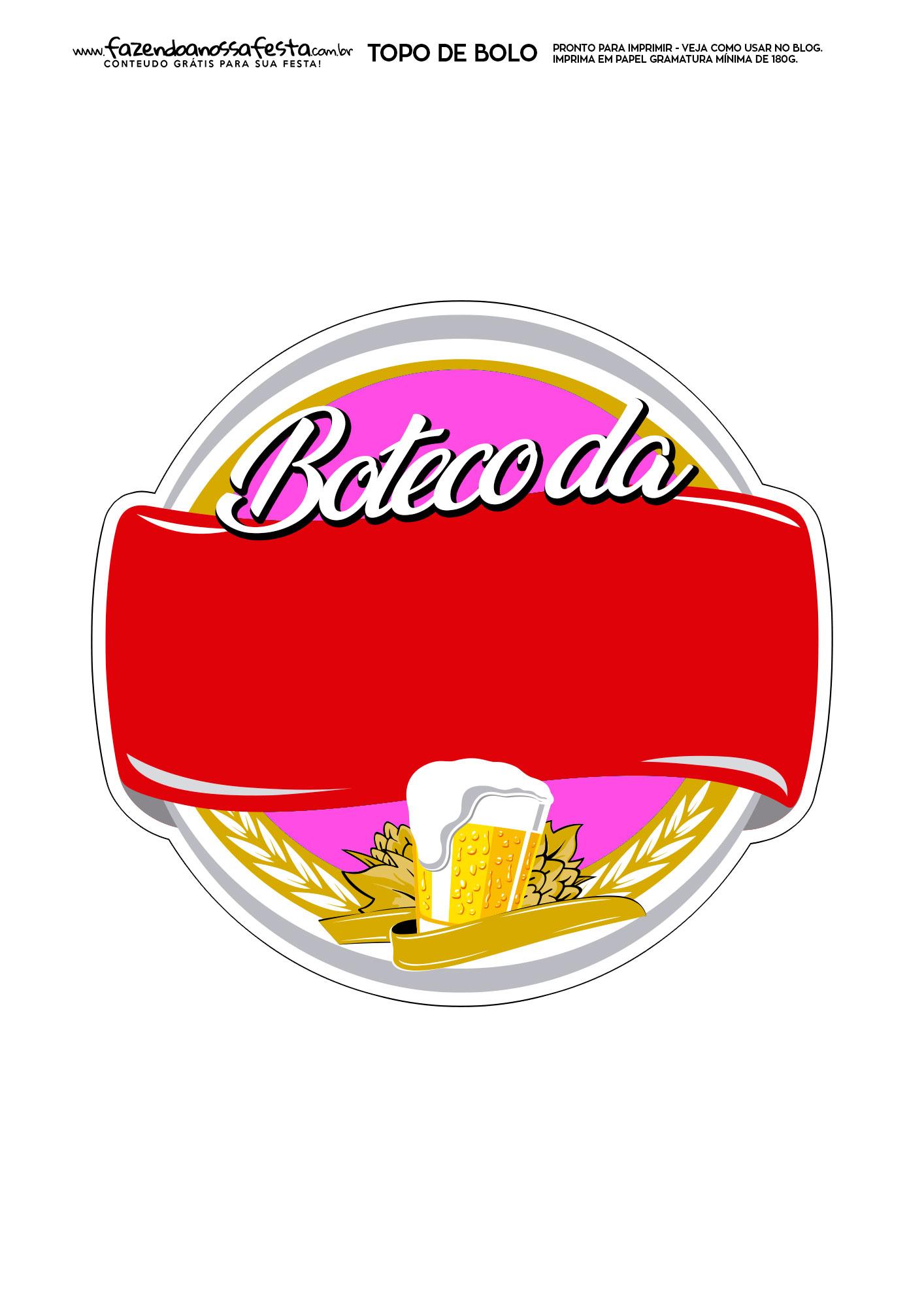 Topo de Bolo Boteco 7