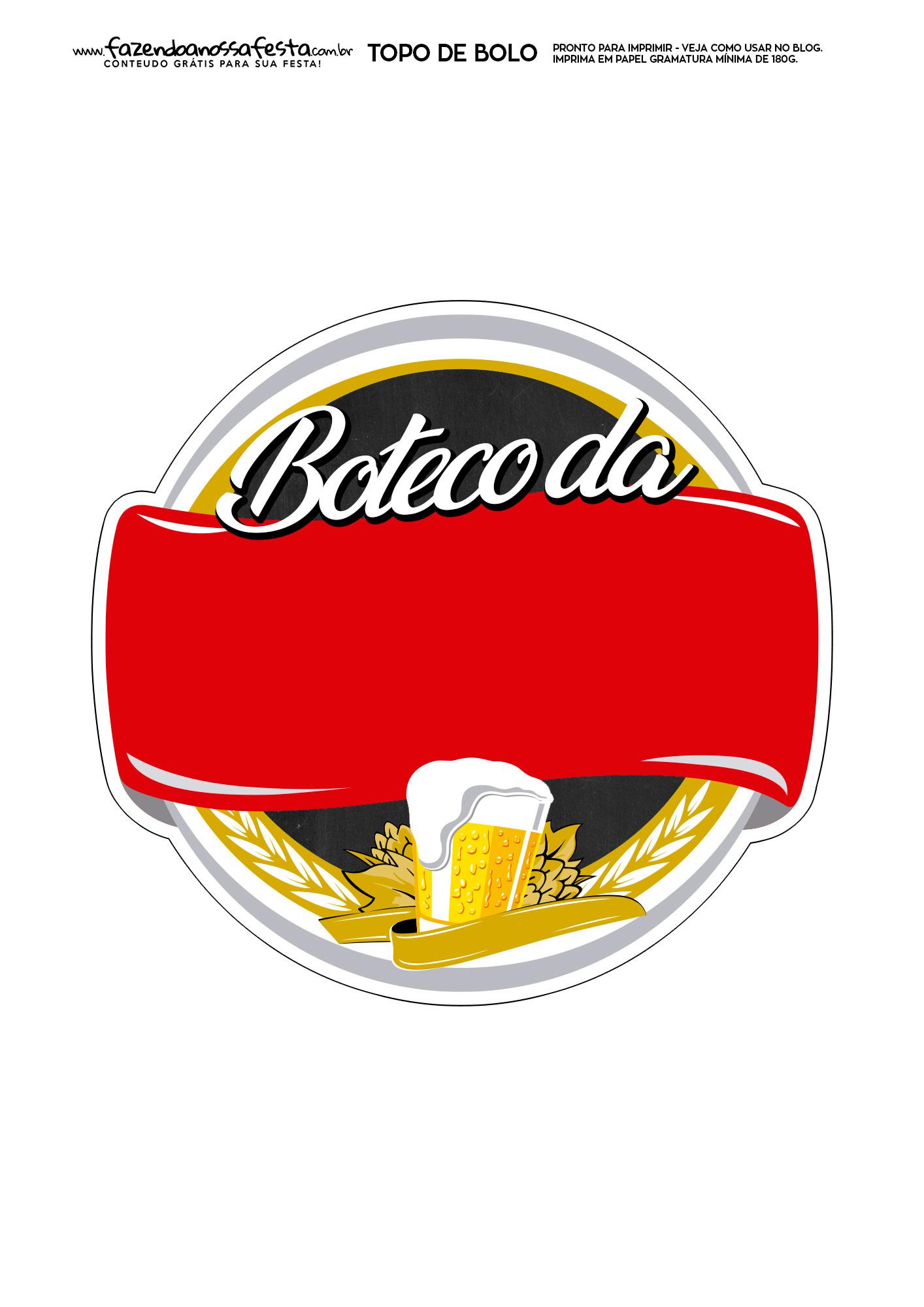 Topo de Bolo Boteco 8