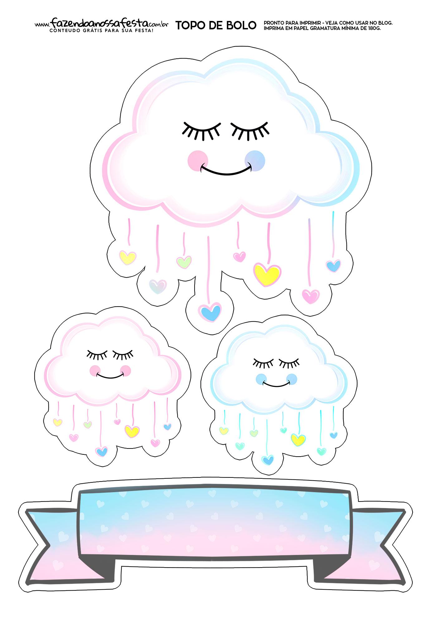 Topo de Bolo Chuva de Amor 3