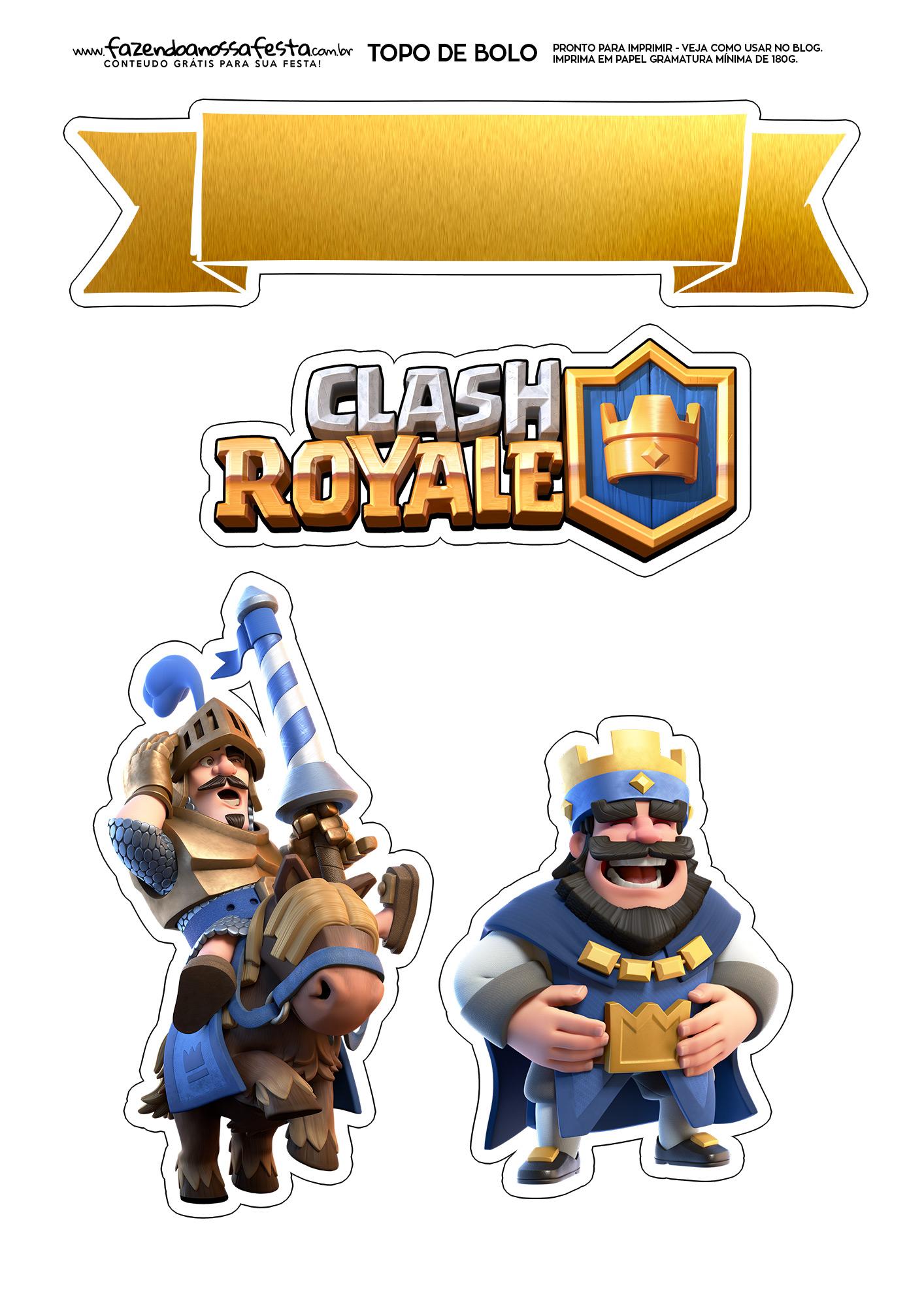 Topo de Bolo Clash Royale 1