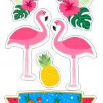 Topo de Bolo Flamingo 2