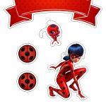 Topo de Bolo Miraculous LadyBug