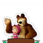 Topo de Bolo Masha e o Urso 3