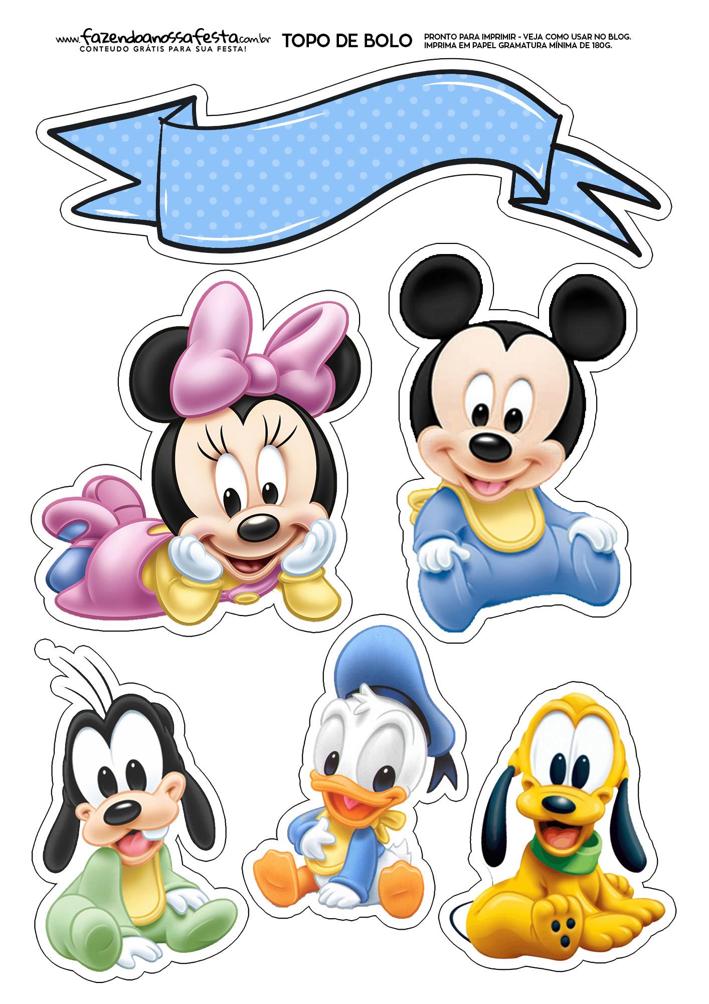Topo de Bolo Mickey Baby