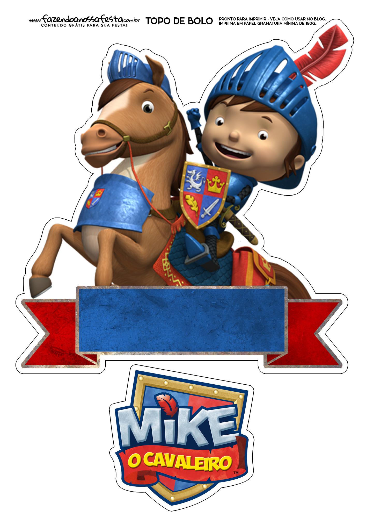 Topo de Bolo Mike o Cavaleiro 2