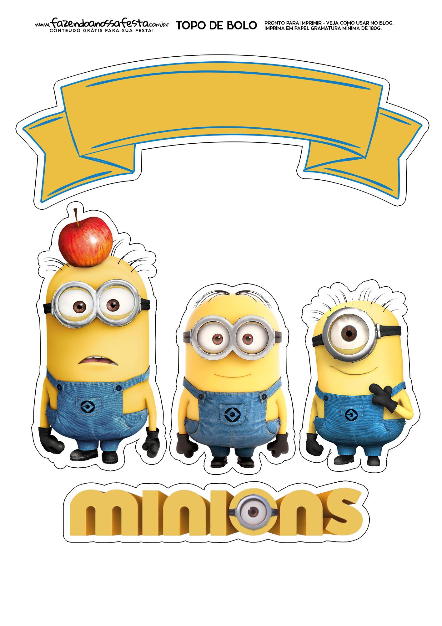 Topo de Bolo Minions