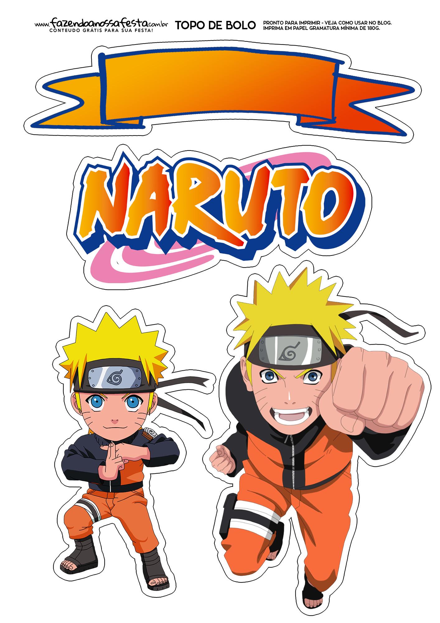 Topo de Bolo Naruto