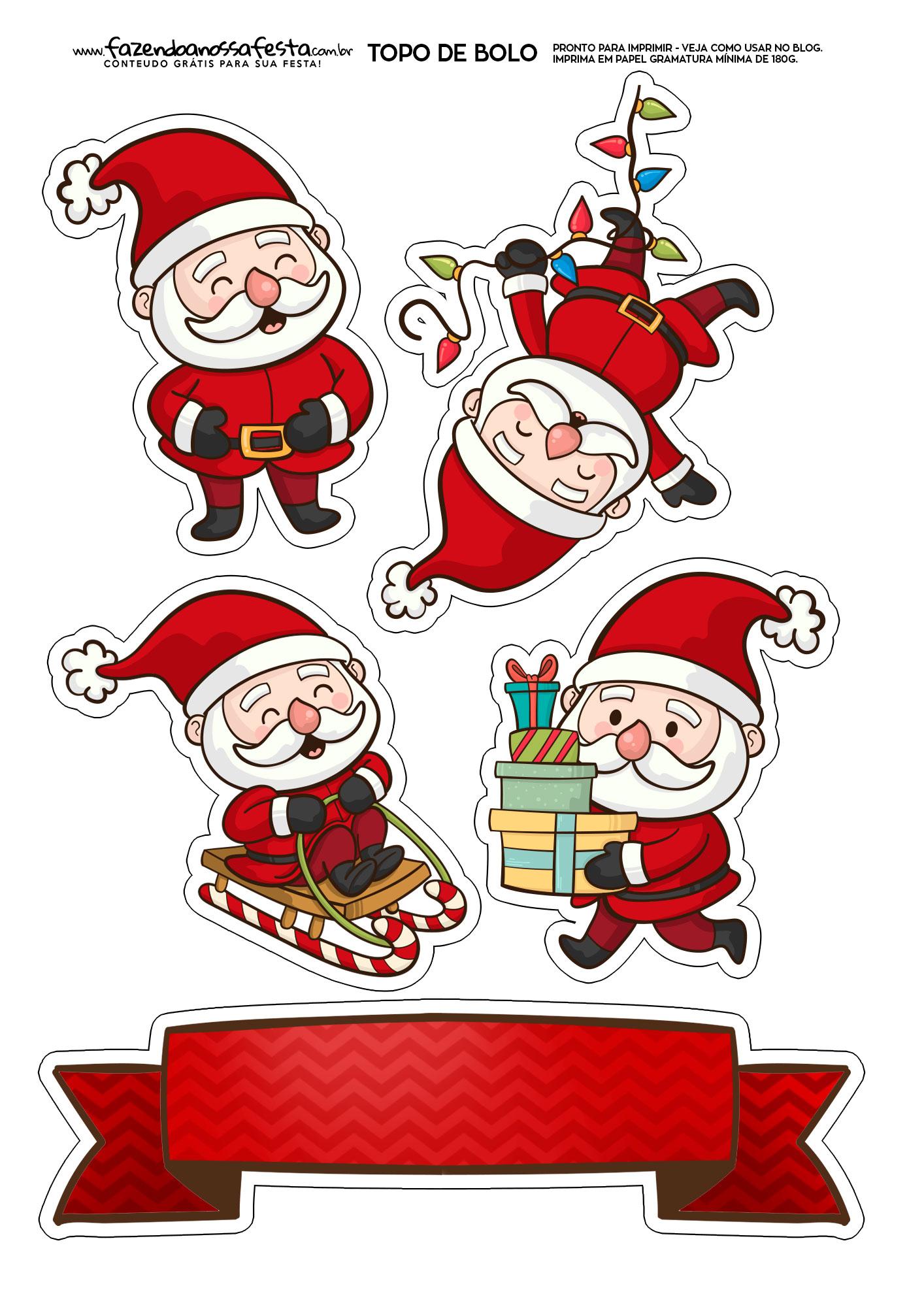 Topo de Bolo Natal 2