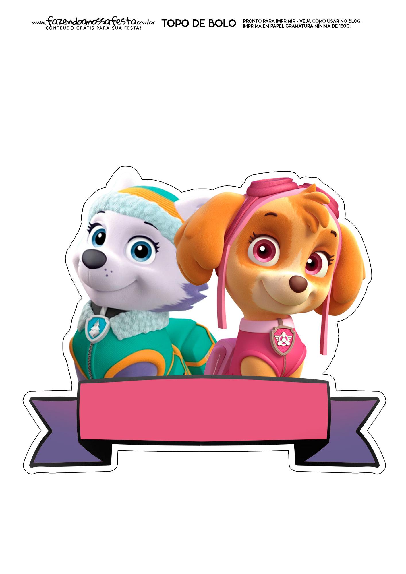 Topo de Bolo Patrulha Canina 8
