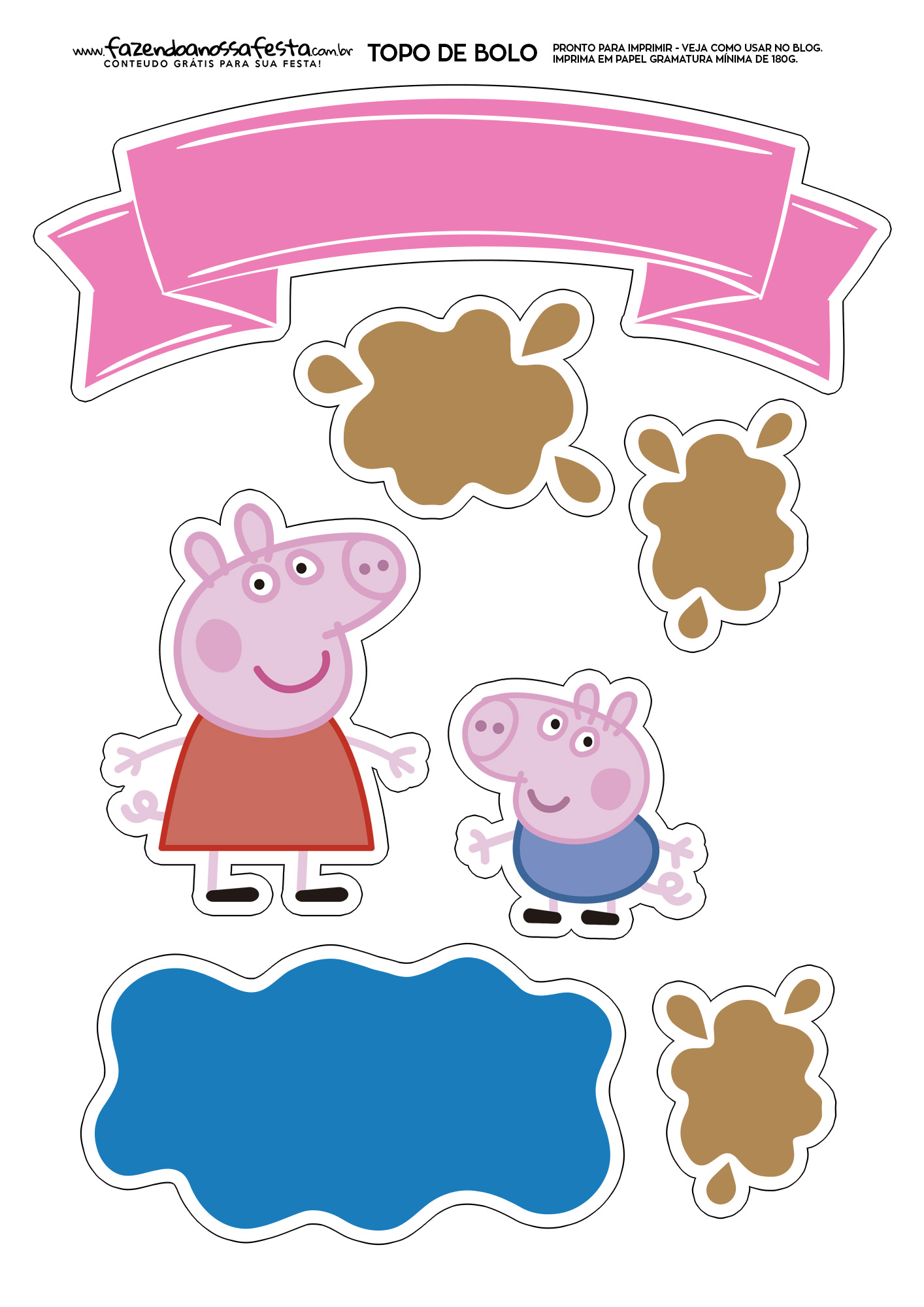 Topo de Bolo Peppa Pig