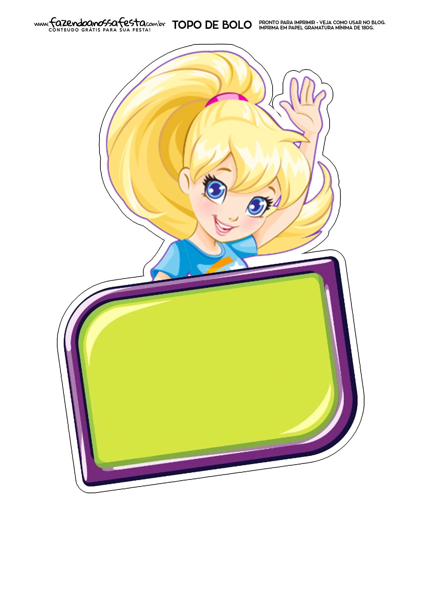 Topo de Bolo Polly Pocket 1