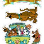 Topo de Bolo Scooby Doo