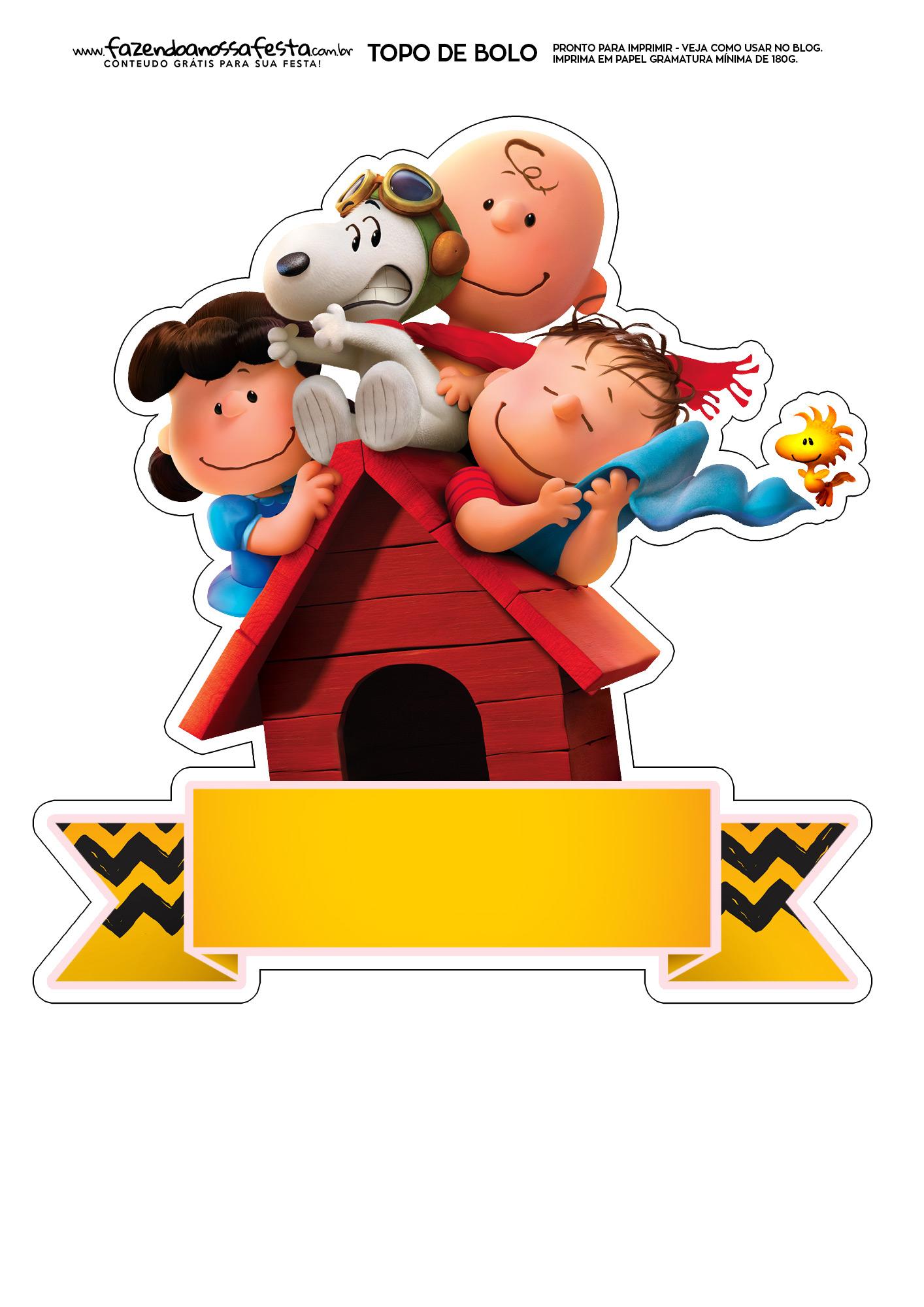 Topo de Bolo Snoopy