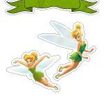 Topo de Bolo Tinker Bell