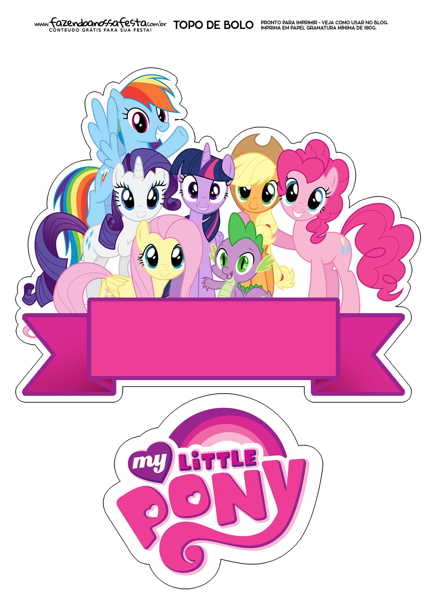 Topo de Bolo my little pony