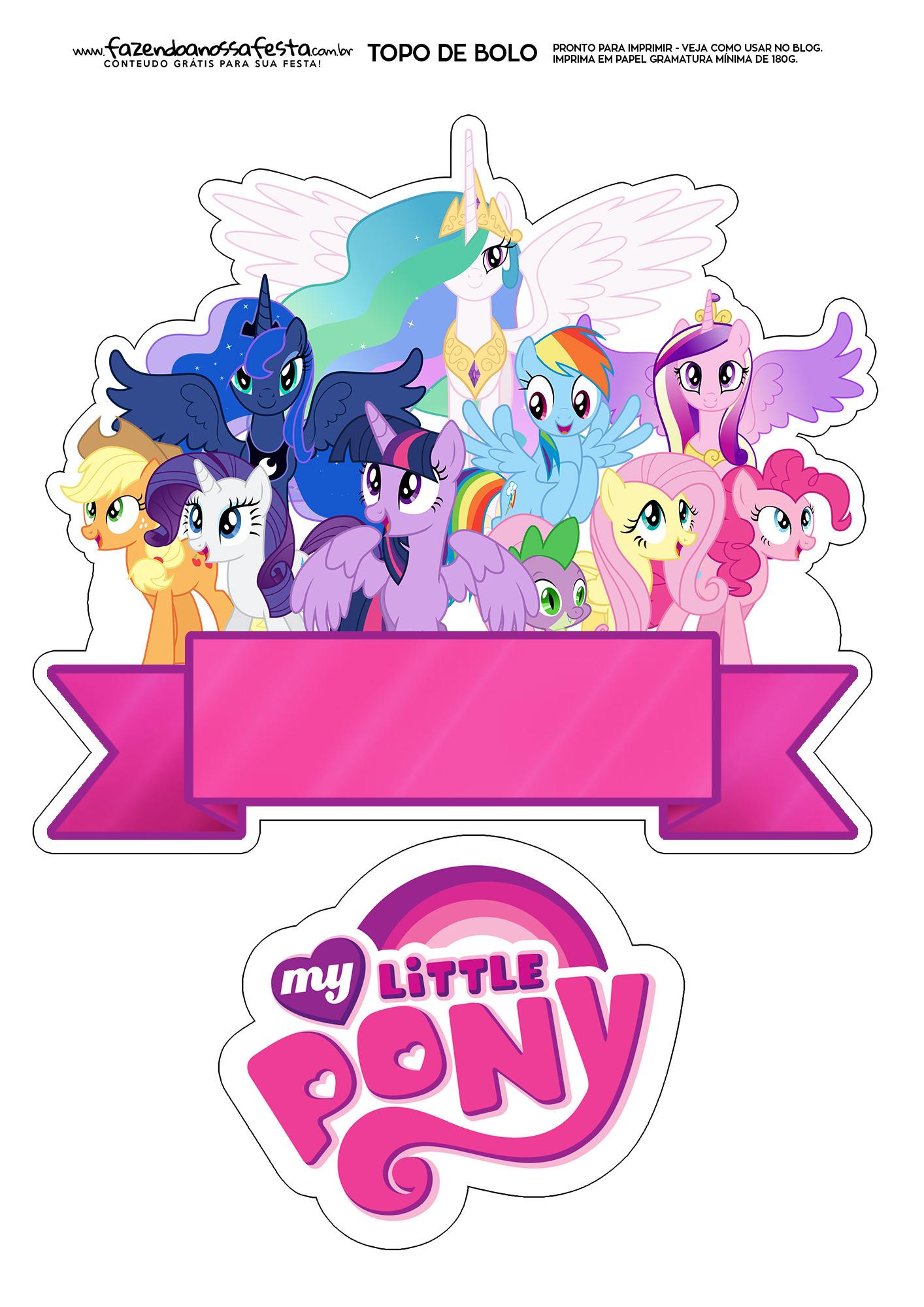 Topo de Bolo my little pony 2