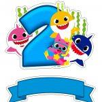 Topo de bolo Baby Shark numero 2