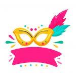 Topo de bolo Carnaval mascara