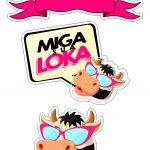 Topo de bolo Miga sua Loka