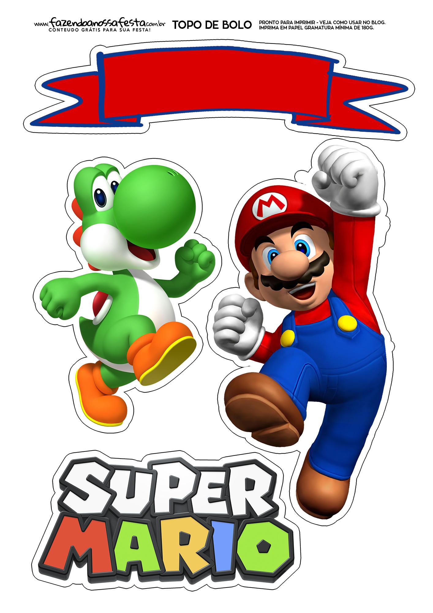 Topo de bolo Super Mario