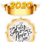 Topo de bolo ano novo 2020