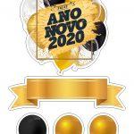Topo de bolo reveillon 2020