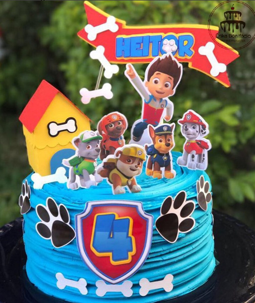 Créditos: @erikabonifacio_ scrapbookprime Ideias para Festa Infantil Patrulha Canina