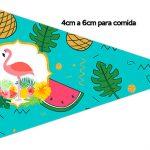 Bandeirinha Sanduiche 1 Flamingo Tropical