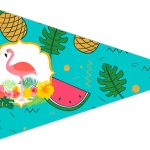 Bandeirinha Sanduiche 2 Flamingo Tropical