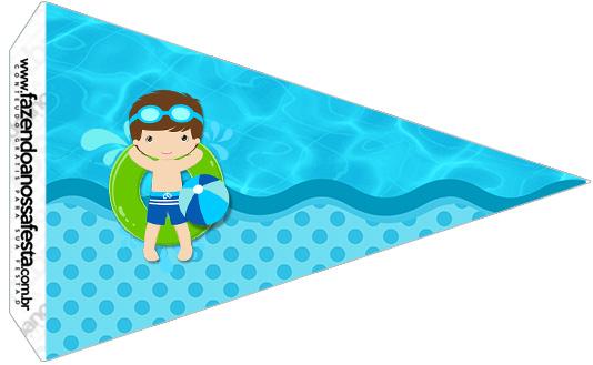 Bandeirinha Sanduiche 2 Pool Party Menino