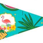 Bandeirinha Sanduiche 3 Flamingo Tropical